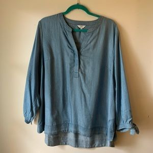 Crown & ivy chambray blouse